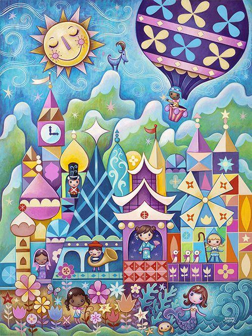 It S A Small World Brian Blackmore Disney Artist Wonderground Gallery Artist Showcase With