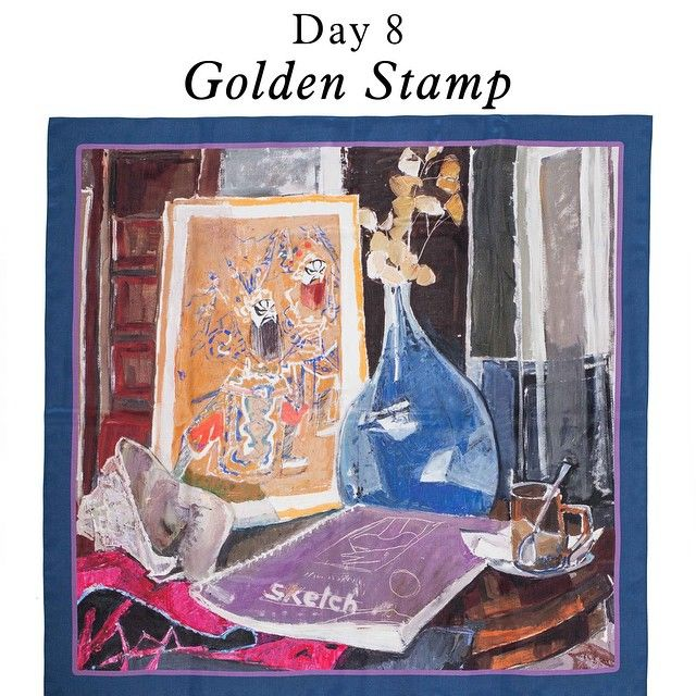 ARGO March Scarves Campaign Day 8 - Golden Stamp Scarf
