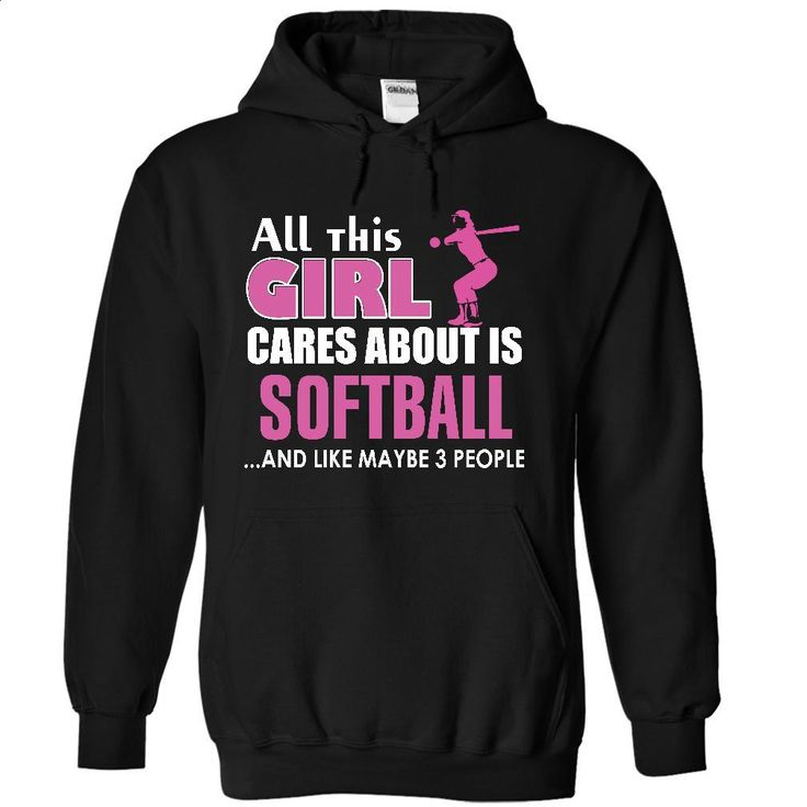 All this girl cares about is Softball T Shirt, Hoodie, Sweatshirts - tee shirts #hoodie #clothing
