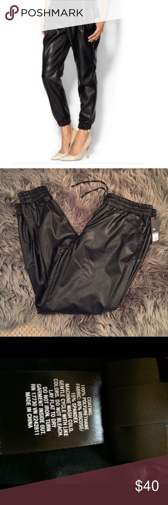 Spotted while shopping on Poshmark: Faux Leather Jogger Pants! #poshmark #fashion #shopping #style #Mossimo Supply Co #Pants