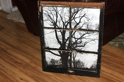 black and white photo behind an old window: Bought Frames, White Photo, Diy Crafts, Black And White, Frames Pictures, Old Windows, Window Panes, Rethink Stores, Window Frames