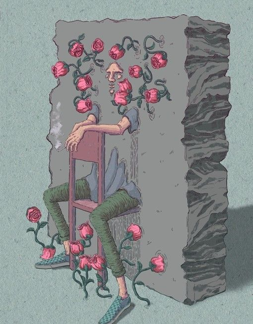 """Man in the wall by Le Ngoc Hung - From $50. You will get an 8"""" x 10"""" size art print on museum quality archival paper. More options available at www.projectartshack.com #digital #art #surreal"""