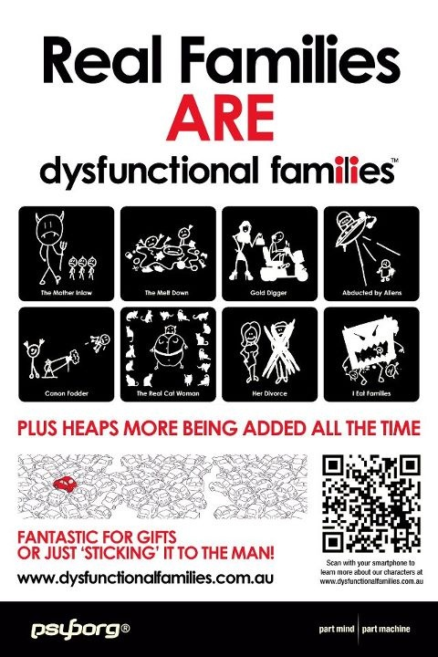 Dysfunctional Families stickers