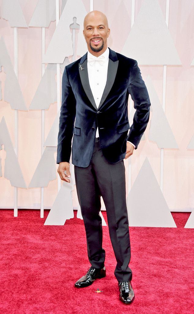 Common from 2015 Oscars: Red Carpet Arrivals  In Prada