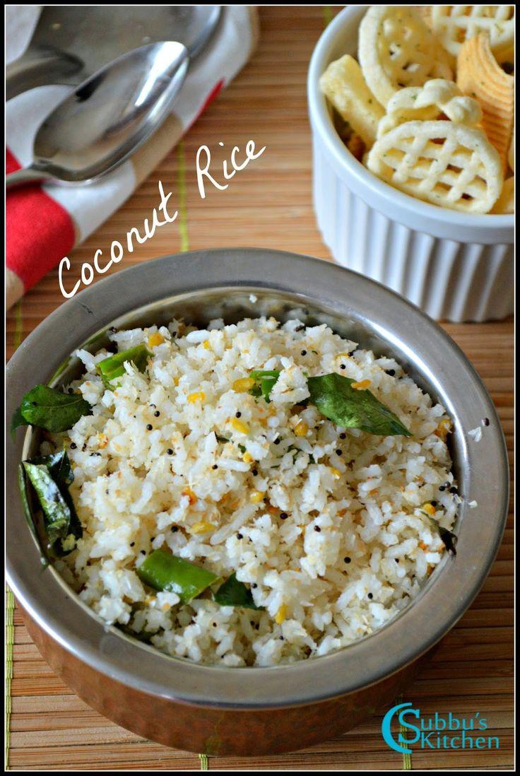 coconut rice recipe thengai sadam recipe