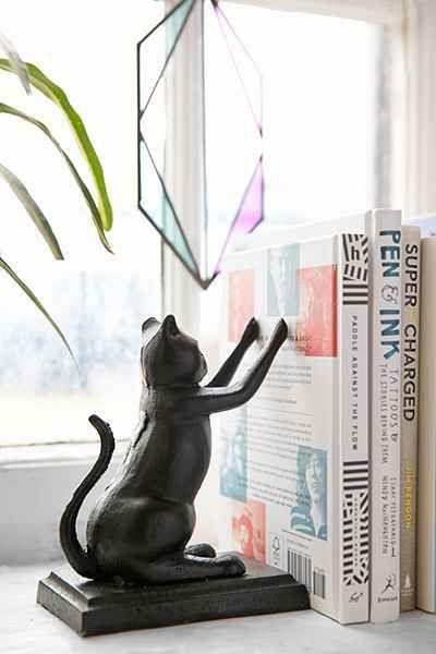 cat bookend