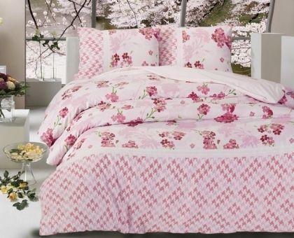 Купить постельное белье ALTINBASAK APRIL розовое 70х70 1,5-сп от производителя Altinbasak (Турция)