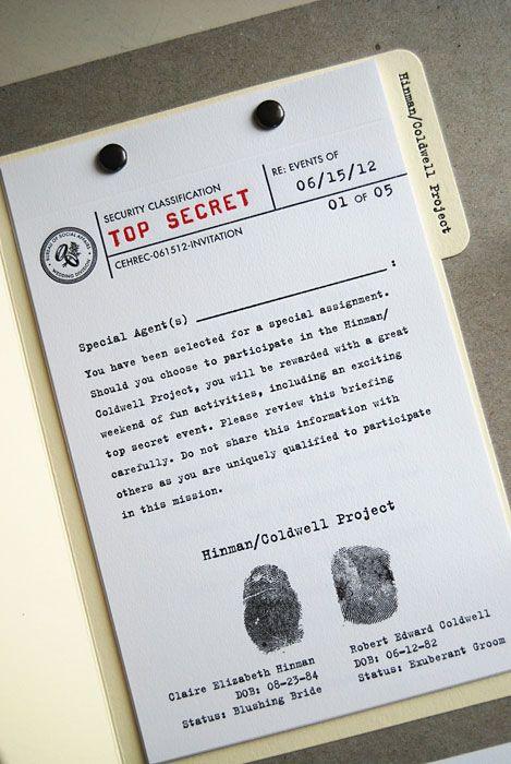 22 best Secret Agent Wedding ideas images on Pinterest