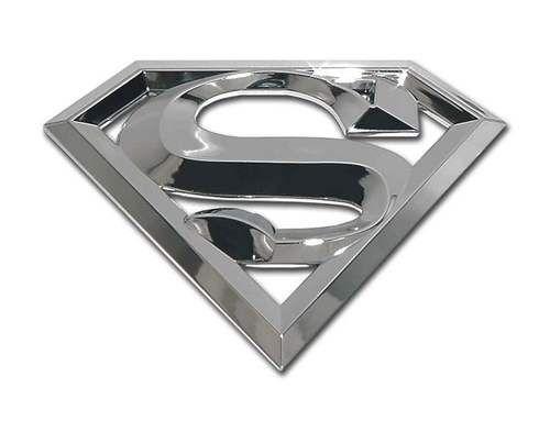 Superman 3D Chrome Car Emblem