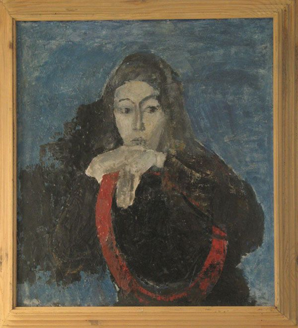 Ronovský František - Portrét dívky http://www.galeriekodl.cz/vystava/7-frantisek-ronovsky---obrazy-a-kresby
