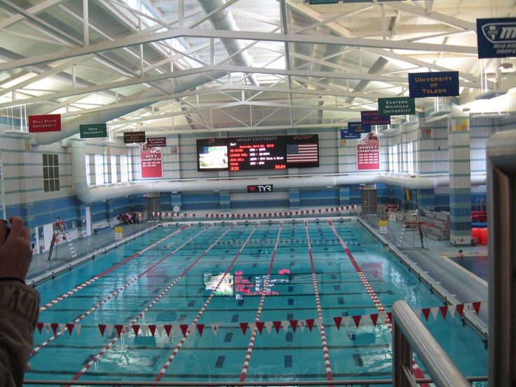 Swimming pool at the rec center