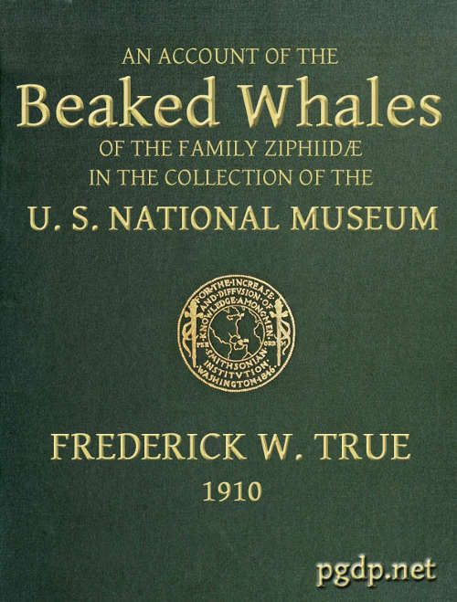 The Beaked Whales of the Family Ziphidae An account of the Beaked Whales of the Family Ziphiidae in the collection of the united states museum free ebooks on   http://www.bookchums.com/free-ebooks/the-beaked-whales-of/NjA0NDQ=.html