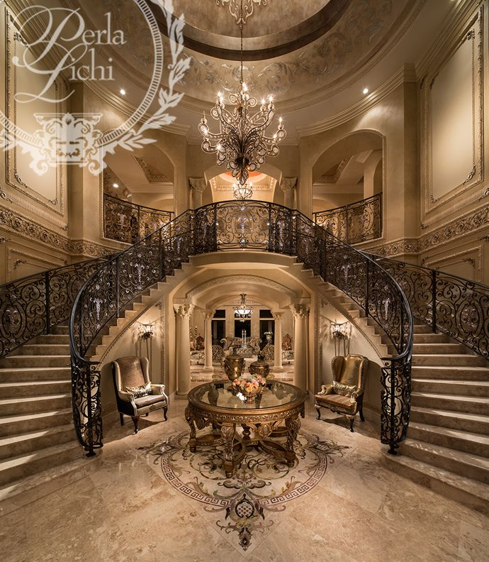 Best 25 grand staircase ideas on pinterest luxury for Mansion foyer designs