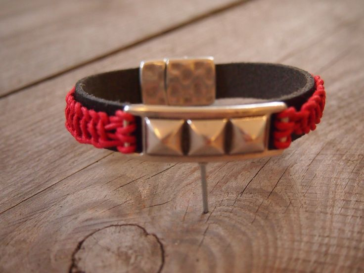#armband #zomer #sieraden #workshop #leer #rood