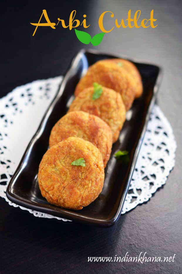 Vegan, delicious and easy Arbi Cutlet or Colocassia (Seppankizhangu) Cutlets or tikki.  Try this different patties variety.
