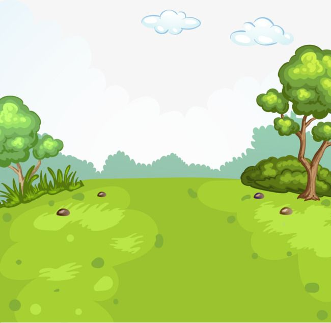 Cartoon Painted Nature Lawn Grass Trees Png And Vector Cartoon Grass Cartoon Painting Cartoon Background