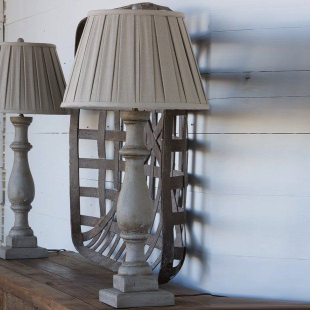 Painted Column Tall Table Lamp $116