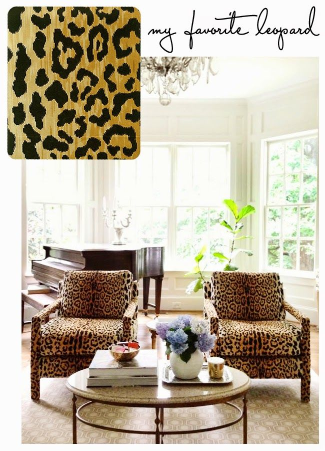 Hunted Interior: Search Results For Leopard Fabric