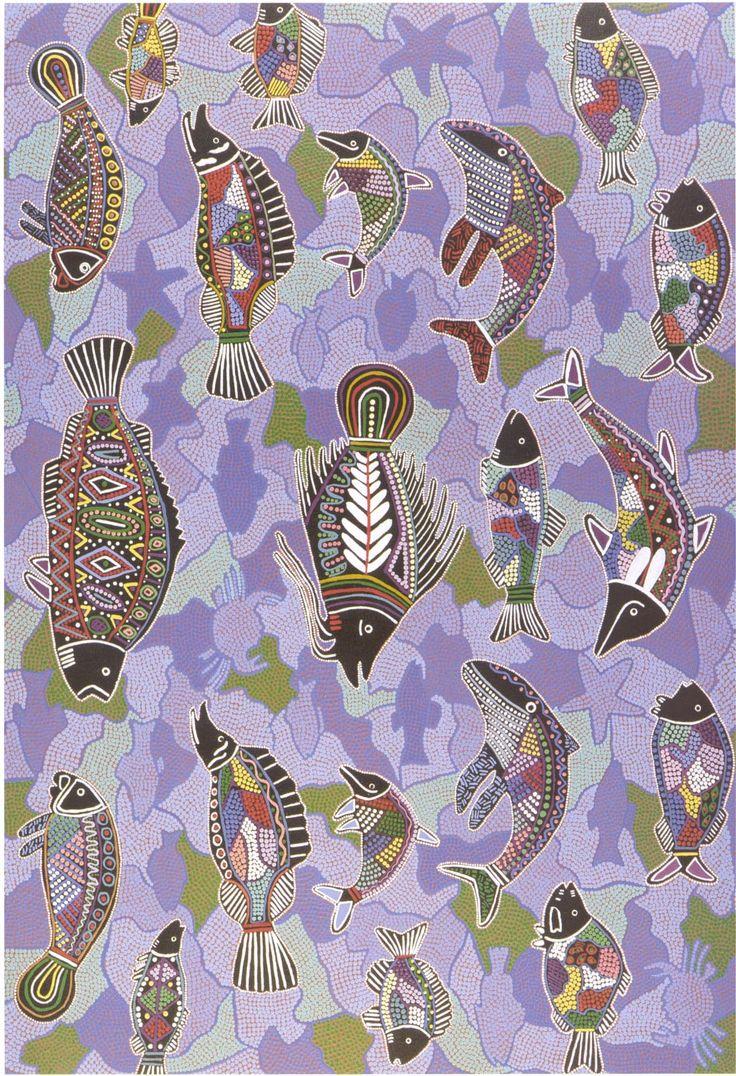 Dreamtime fish   Australian Aboriginal art