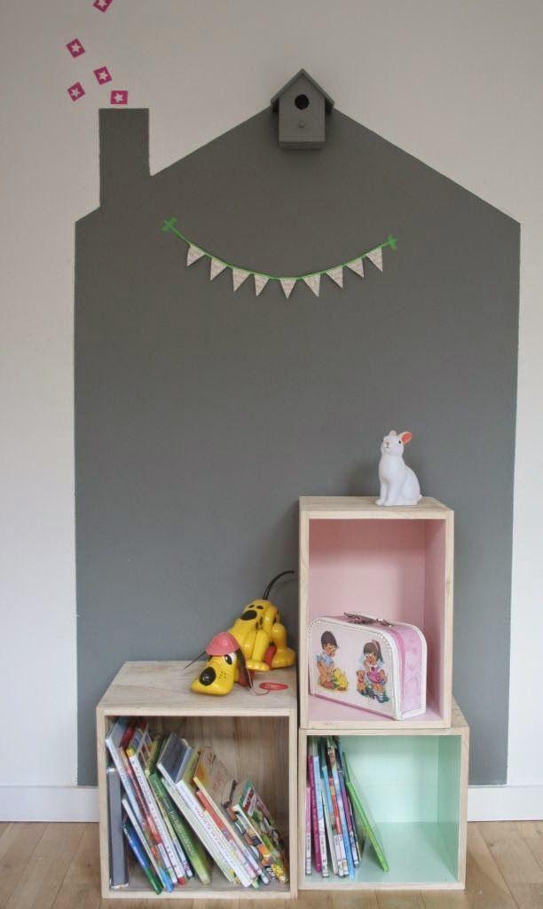 Paredes pintadas en habitaciones de niños. Kidsmopolitan decoración infantil. http://kidsmopolitan.com/originales-paredes-de-diseno-en-habitaciones-infantiles/