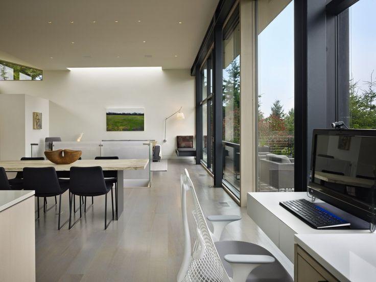 Hillside Modern; DeForest Architects; Bellevue, WA; Photo By Benjamin  Benschneider · Steel HomesArchitecture Interior DesignModern ...