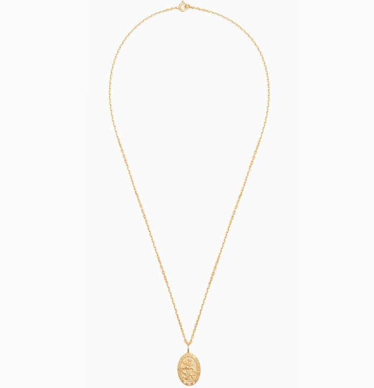 St Christopher Pendant Necklace — Theodora Warre