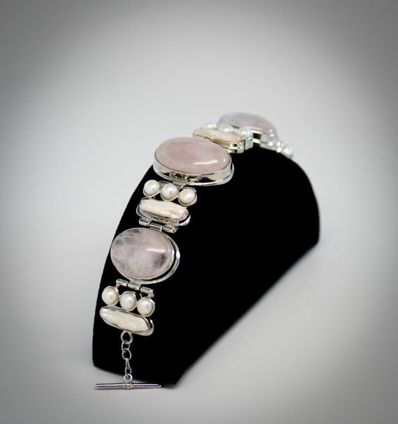 Check out this item in my Etsy shop https://www.etsy.com/listing/270080775/rose-quartz-and-pearl-bracelet
