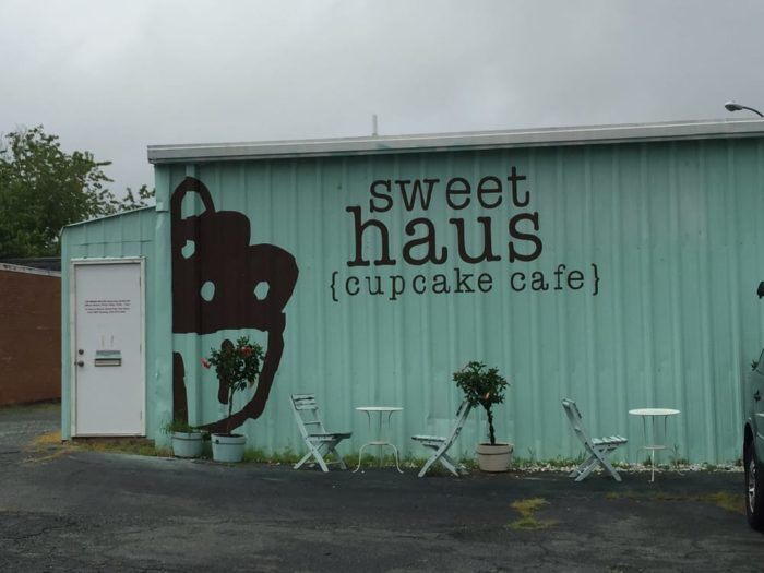 Sweethaus Cupcake Cafe is located in a mint green building at 929 2nd St SE Charlottesville, VA 22902.