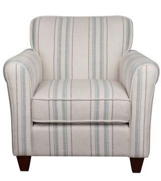 Perth Chair - Fabric / Colour: Hadley Stripe Seaspray - Chairs