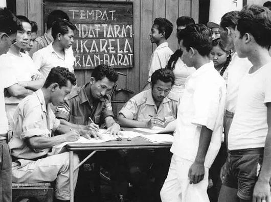 Pendaftaran Sukarelawan di masa operasi Trikora 1961/62