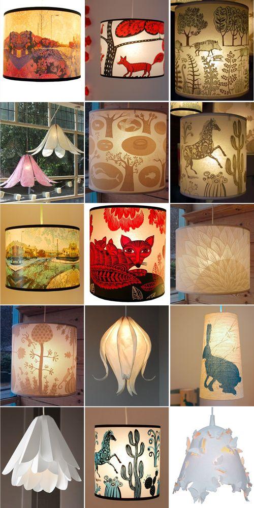 Cool DIY lampshades