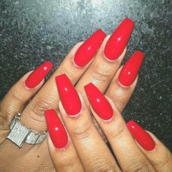 50 Creative Red Acrylic Nail Designs to Stimulate You #summernails #nailsforsumm… – Nail Art Ideas