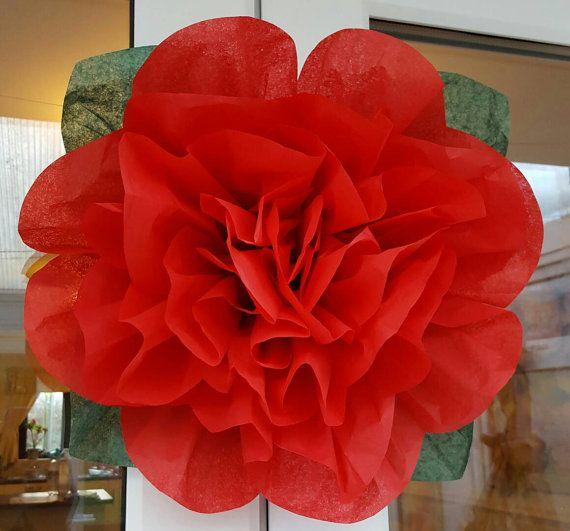 37 best tissue paper flowers uk images on pinterest flowers uk pom pom rose tissue paper flower 45cm wedding decorations centrepiece babyshower st valentines christmas mightylinksfo