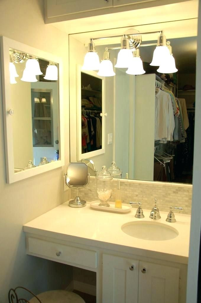 Tasty Master Bathroom Vanity With Makeup Area Bathroom Vanity