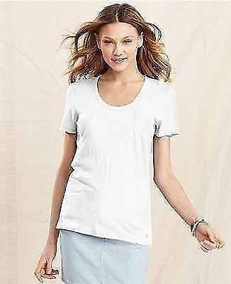 New Tommy Hilfiger Women's Pocket Tee - White - Medium - New with Tags Designer