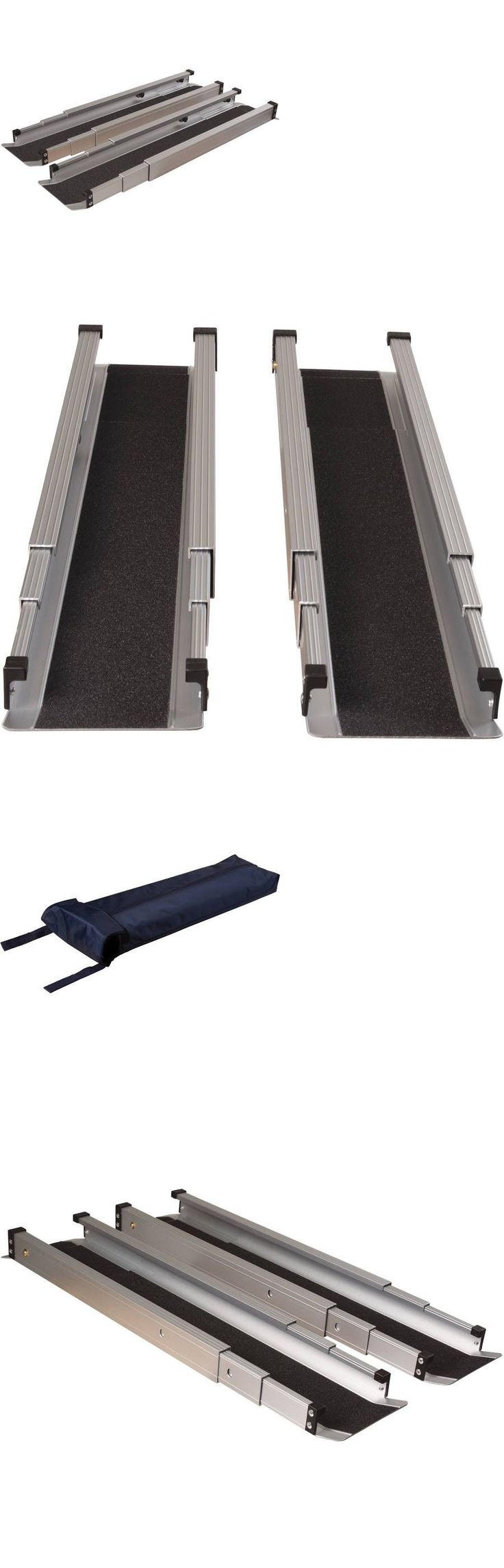 Access Ramps: Wheelchair Curb Ramp Portable Homes Adjustable Aluminium Threshold Folding 5 Ft -> BUY IT NOW ONLY: $159.99 on eBay!