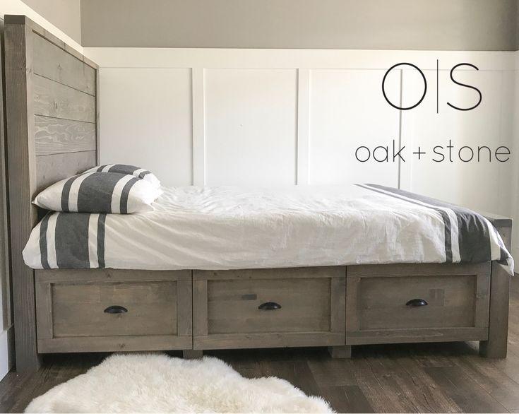 Hampton Collection Storage Bed  #anawhite #anawhitestoragebes #storagebed