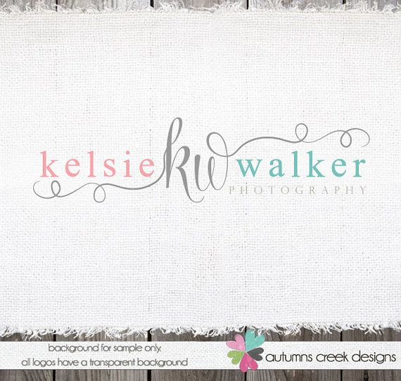 Custom Premade Photography Logo - Swirls and Initials Logo and Watermark Design Name Text Logo on Etsy, $40.00