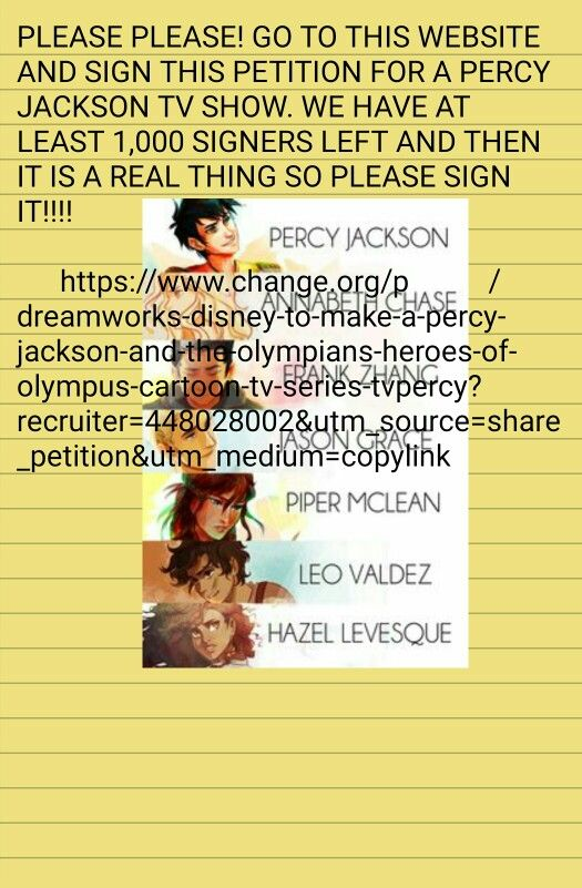 14 best Important images on Pinterest Camp half bloods, Heroes - creating signers form for petition