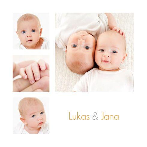 Geburtskarte Zwillinge 6 Fotos by Le Collectif für Rosemood.de! #Babykarte #babycard #twins #Zwillinge