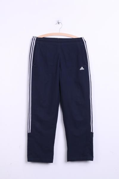 Adidas Womens Trousers 12 M Track Bottom Navy 3 Stripes Sport - RetrospectClothes