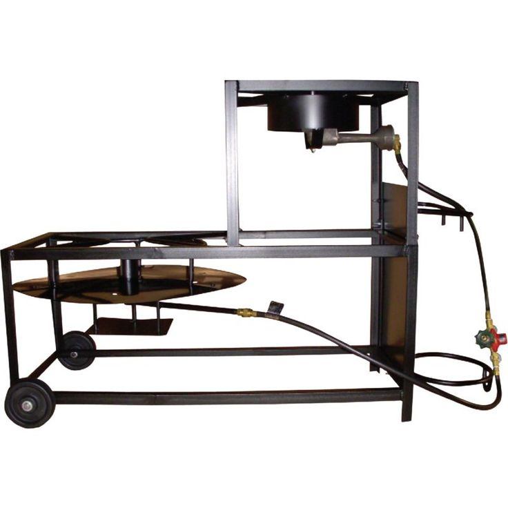 "King Kooker Portable Propane 30"" Fryer/Boiling Cart Package, Red"