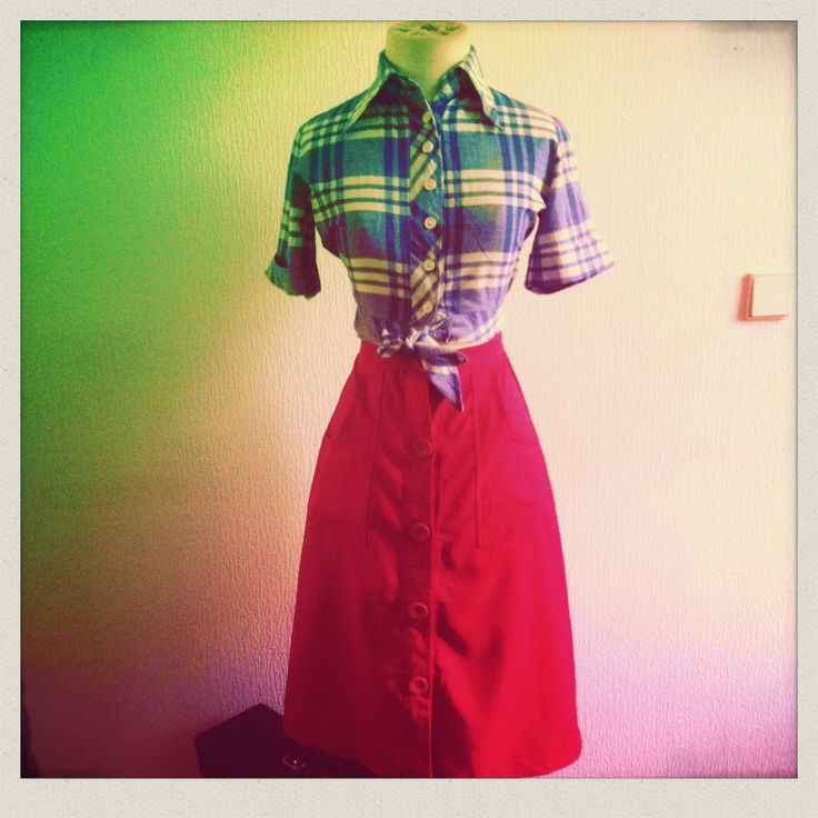 '70 blouse and skirt