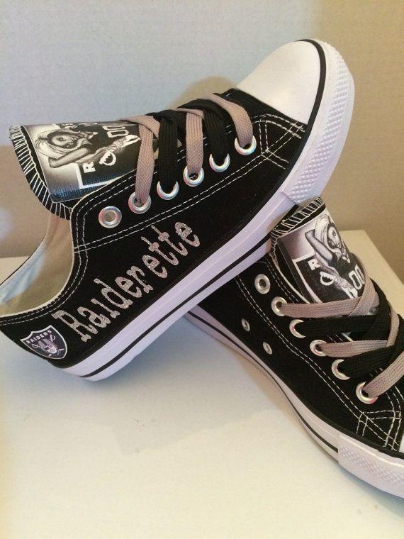 Oakland Raiders womens shoes (Raiderette) please read description before purchasing