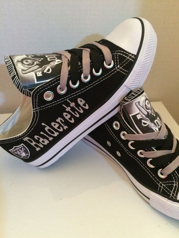 Oakland Raiders womens shoes (Raiderette) please read description before purchasing