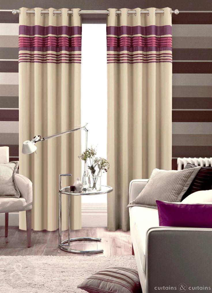 Next Aubergine Purple Readymade Eyelet Curtain Curtains