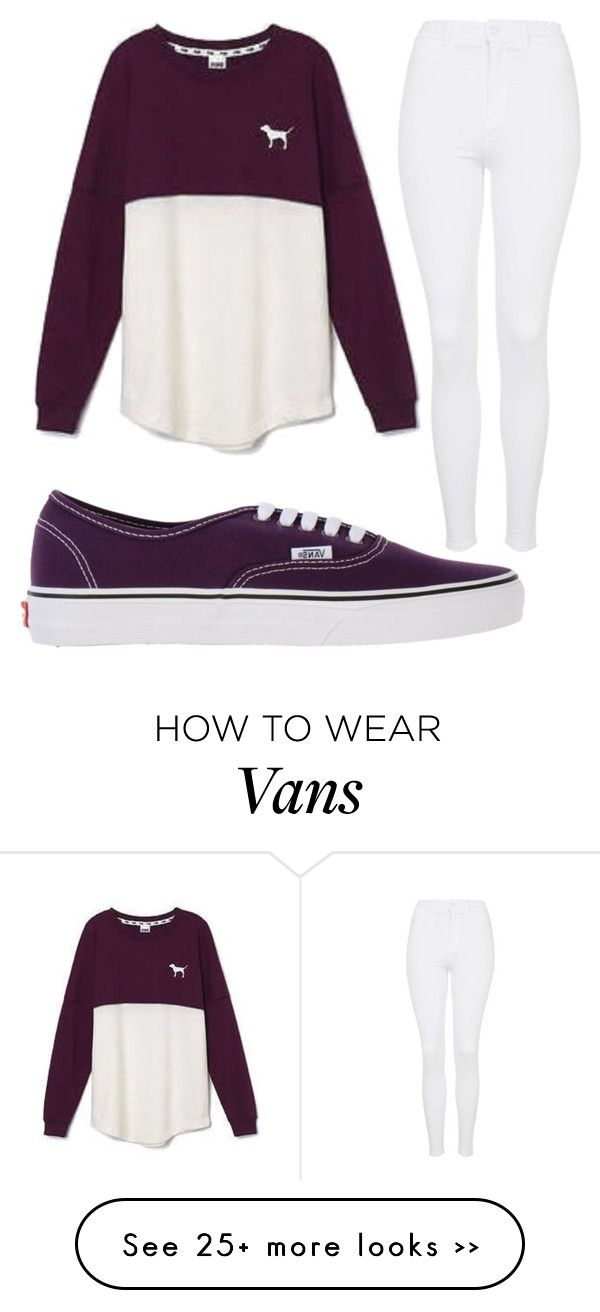 """""""Untitled #1025"""" by pinkunicorn007 on Polyvore featuring Vans, Victoria's Secret and Topshop"""