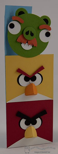 More Angry Birds! Punch Art Joanne James, Independent Stampin' Up! Demonstrator  www.blog.thecraft...