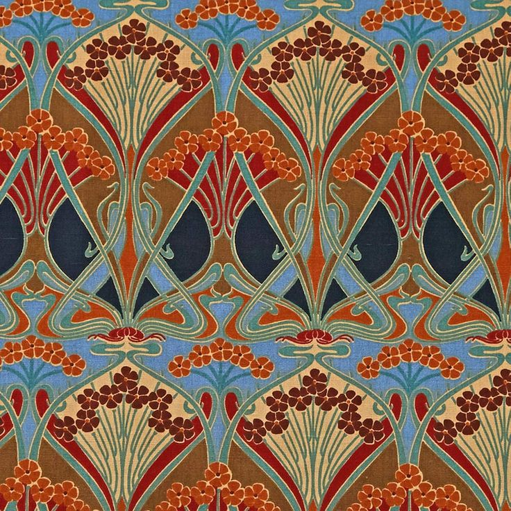 """The """"Ianthe"""" pattern was originally created in 1900 by French designer R. Beauclair and was used by the company Liberty of London. The print comes in many color combinations and is still used for fabric designs today. source."""