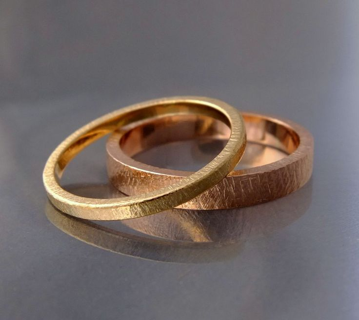 podwójne obrączki ślubne BIZOE z białego i żółtego złota